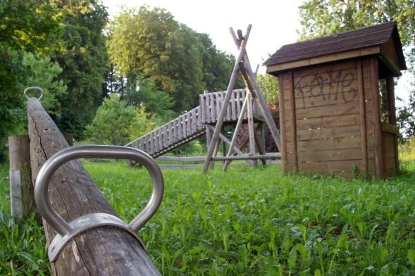 Foto des alten Spielplatzes